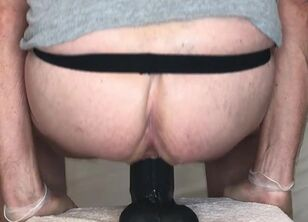 Forced anal dildo