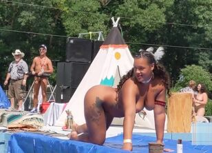 Naked native american